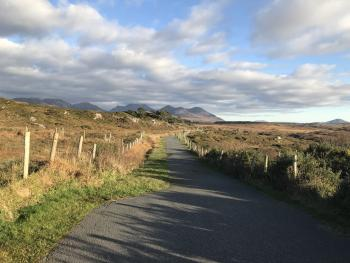 Connemara Greenway. This is outside of our gate!