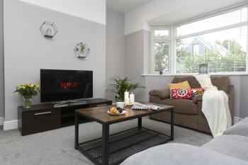 Living room  - comfy sofa and armchair