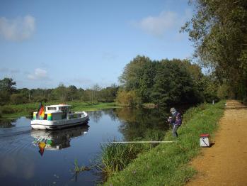 Pêche sur le Canal de Nantes à Brest
