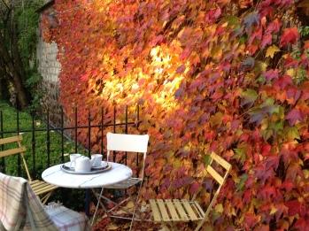 Terrasse La Demeure des Sacres Maison d'hôtes Reims