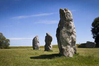 The standing stones around the quaint village of Avebury