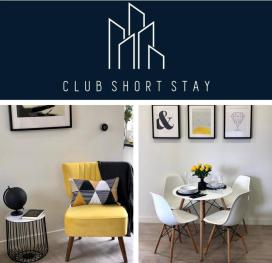 Club Short Stay Interior Collage