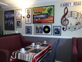 Dine in the music room