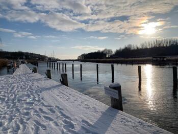 Hafen Seedorf im Wintermärchen