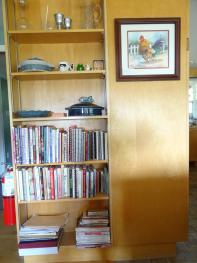 Many recipe books in Cathie's kitchen