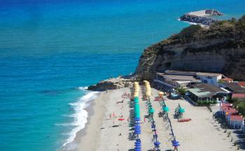 Strand und Badebucht Tropea © Ferienwohnung Casa Belle Vacanze