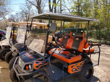 Hot rod golf carts