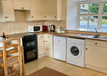 Snowdrop Cottage kitchen area (self-catering)