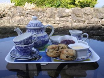 Tea tray with homemade scones
