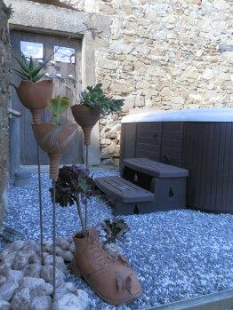 Spa extérieur chauffé en libre accès