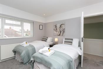 Bedroom 3 - two single beds - memory foam mattresses