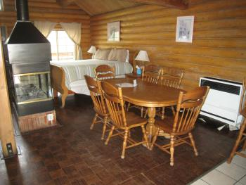 CABINS #5(SLEEPS 4), #9(SLEEPS 6), and #13(SLEEPS 6 AND PET FRIENDLY) are our ONLY cabins that provide a full size table that sit 6 people