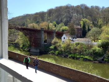 Ironbridge View Townhouse - Stunning view of the Iron Bridge from the lounge