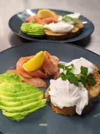 Smoked Salmon, Avocado and Poached Eggs Breakfast