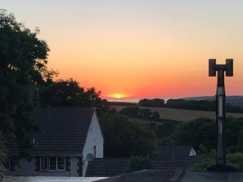 sunset from double rooms