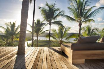 KA BRU River Rental Villa - Pool deck