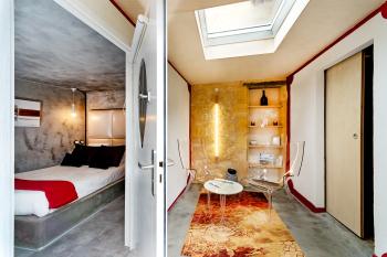 Chambre et salon privée Chmabre La Cuve à Mon Loup