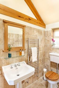 The Hurworth Bathroom with Large Bath and Walk-in Shower