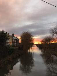 The Stunning Sunset Over the Pub