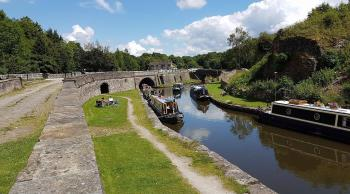 The Buxworth Canal basin is a two minute walk away