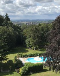 Views of the Garden, Pool and Cathedral
