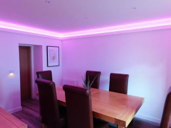 Dining room ready for celebrations and memorable times