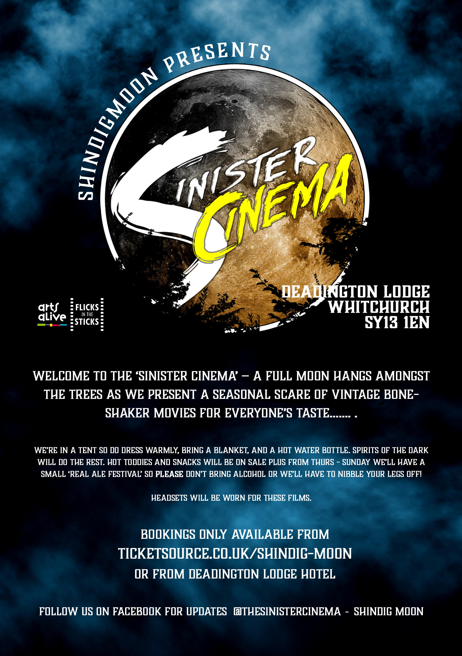 The Sinister Cinema Thursday 29th October to Sunday 1st November