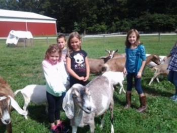 Kids with kids & goats