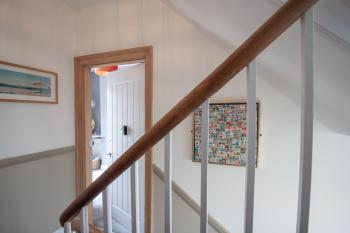 stairwell and room entrance