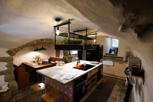 Castle Kitchen with two ovens, induction hob and dishwasher. There is also underfloor heating to keep you toasty all year round.