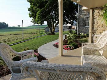 Relax on the guest house porch