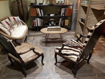 Espace salon  Chambre Livingstone  château des Périchons