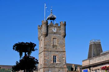 Iconic Clock Tower, metres from Ben Shea Smart Home and the centre of Dufftown