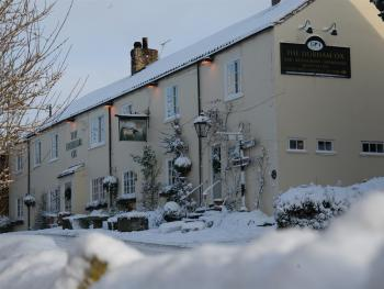 The Durham Ox in the snow