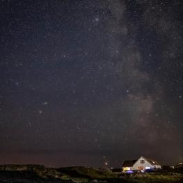 Tigh na Mara by night, we're a designated Dark Sky Community