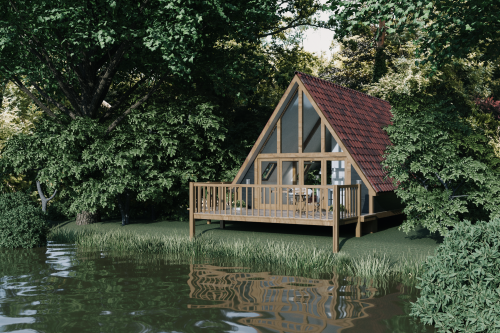 Log Cabin-Luxury-Ensuite with Shower-Lake View - Base Rate