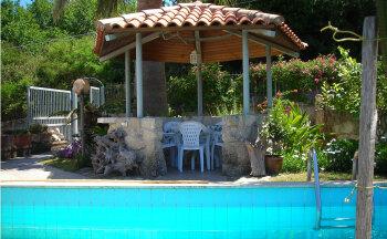 Garten Pavillon und Pool © Ferienwohnung Casa Belle Vacanze