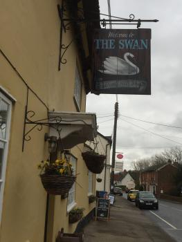The front of The Swan Inn with street view