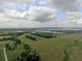 Drone view toward the Goose Pond FWA