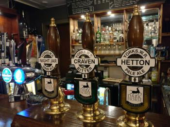 Local real ales from Dark Horse brewery
