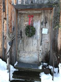 Porte d'entrée en hiver