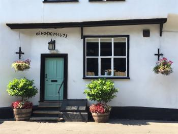 The front door of The Chequers Fowlmere