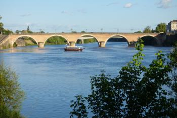 Pont de Bergerac avec la gabarre