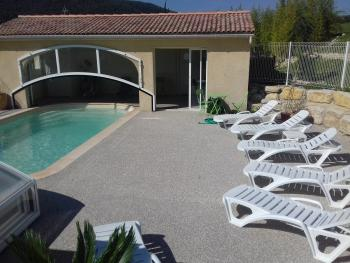 Plage et pool house