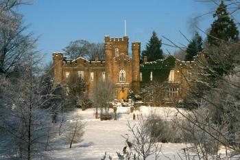 Augill Castle in the snow