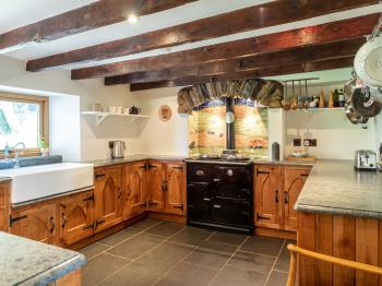 Characterful cottage kitchen, equipped with an aga