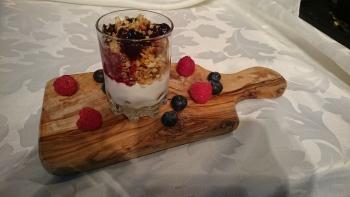 Homemade Granola with Greek Yogurt & Fruit Compote