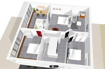 plan 3D de l'étage