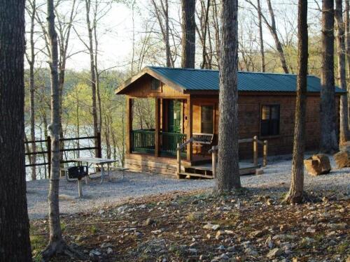 Cabin-Shared Bathroom-Standard-Lake View-Camper Cabin - Base Rate
