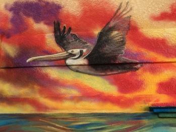 Mural Pelican